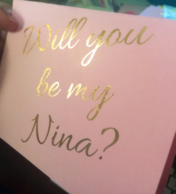 Will you be my Nina?